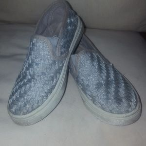 Other - Silver slip ons